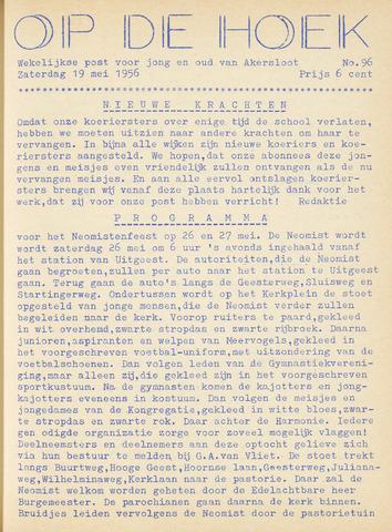 Op De Hoek, weekblad voor Akersloot 1956-05-19