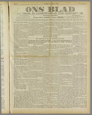 Ons Blad : katholiek nieuwsblad voor N-H 1920-03-26