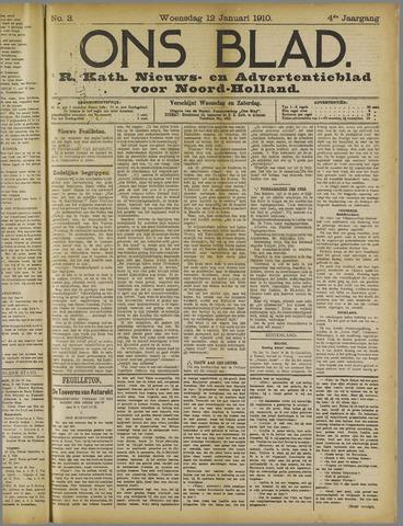 Ons Blad : katholiek nieuwsblad voor N-H 1910-01-12