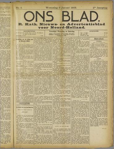 Ons Blad : katholiek nieuwsblad voor N-H 1908-01-08