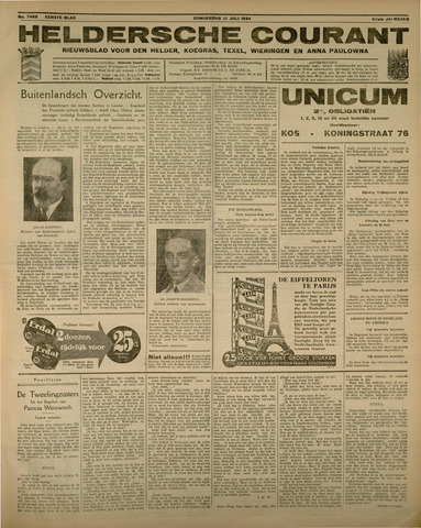 Heldersche Courant 1934-07-12