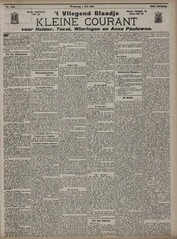 Vliegend blaadje : nieuws- en advertentiebode voor Den Helder 1908-07-01