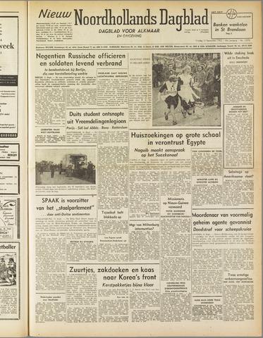 Nieuw Noordhollandsch Dagblad : voor Alkmaar en omgeving 1952-09-12