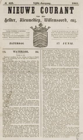 Nieuwe Courant van Den Helder 1865-06-17