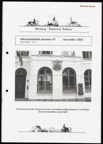 Informatieblad stichting Historisch Niedorp 2016-11-01