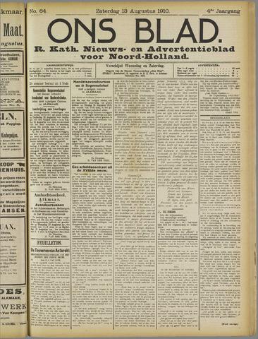 Ons Blad : katholiek nieuwsblad voor N-H 1910-08-13