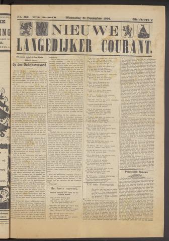 Nieuwe Langedijker Courant 1924-12-31