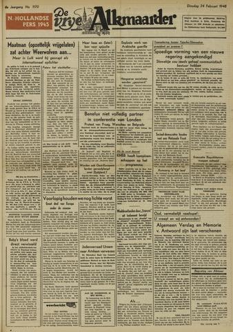 De Vrije Alkmaarder 1948-02-24