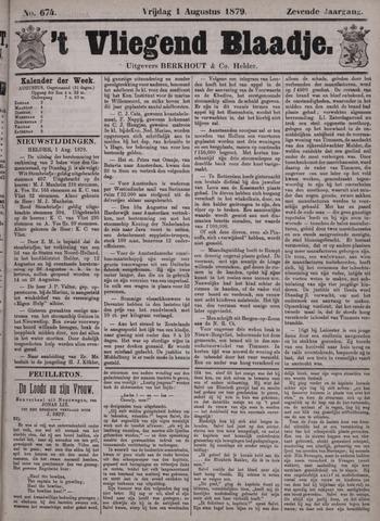 Vliegend blaadje : nieuws- en advertentiebode voor Den Helder 1879-08-01