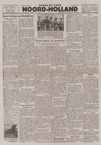 Dagblad Noord-Holland, Schager editie 1943-07-09