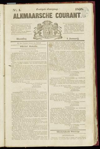 Alkmaarsche Courant 1858-01-04