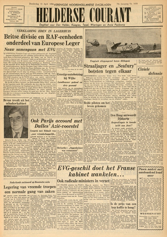 Heldersche Courant 1954-04-15