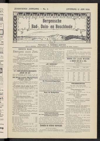 Bergensche bad-, duin- en boschbode 1926-06-12
