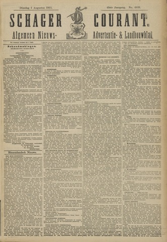 Schager Courant 1911-08-01
