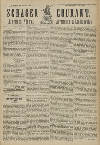 Schager Courant 1911-08-16