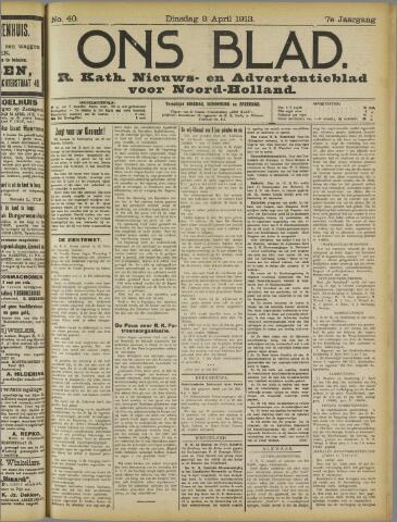 Ons Blad : katholiek nieuwsblad voor N-H 1913-04-08