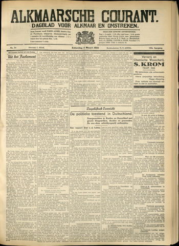 Alkmaarsche Courant 1933-03-04