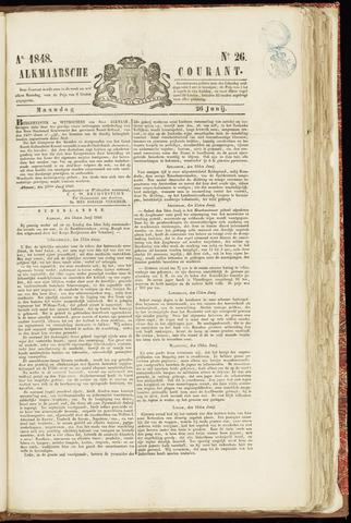 Alkmaarsche Courant 1848-06-26
