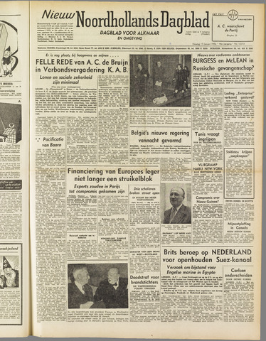 Nieuw Noordhollandsch Dagblad : voor Alkmaar en omgeving 1952-01-15
