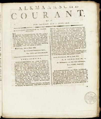 Alkmaarsche Courant 1816-06-17