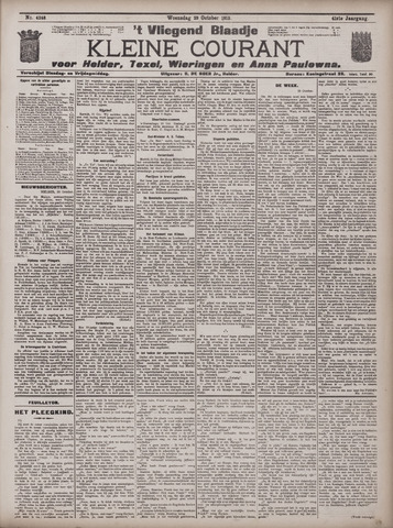 Vliegend blaadje : nieuws- en advertentiebode voor Den Helder 1913-10-29