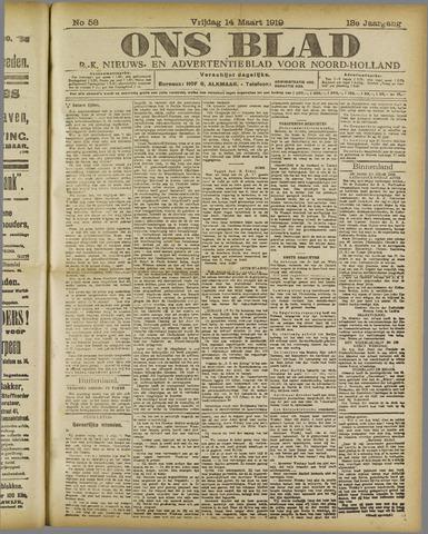 Ons Blad : katholiek nieuwsblad voor N-H 1919-03-14