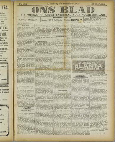 Ons Blad : katholiek nieuwsblad voor N-H 1919-12-24