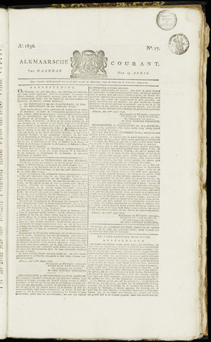 Alkmaarsche Courant 1836-04-25