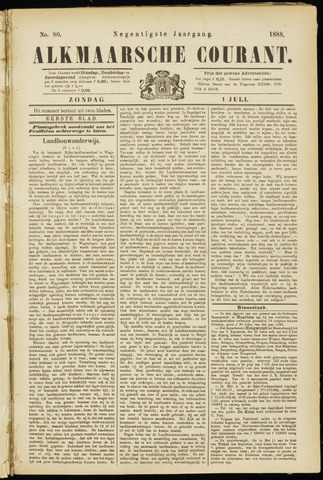 Alkmaarsche Courant 1888-07-01