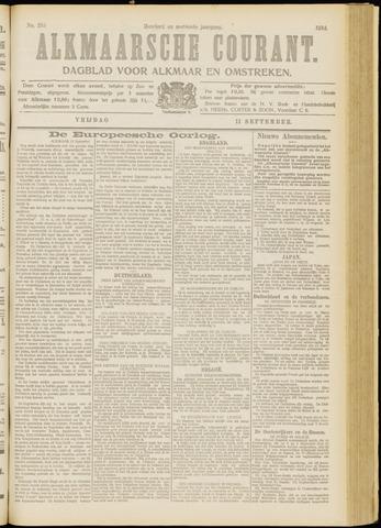Alkmaarsche Courant 1914-09-11