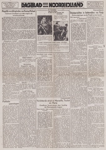 Dagblad Noord-Holland, Schager editie 1944-08-26