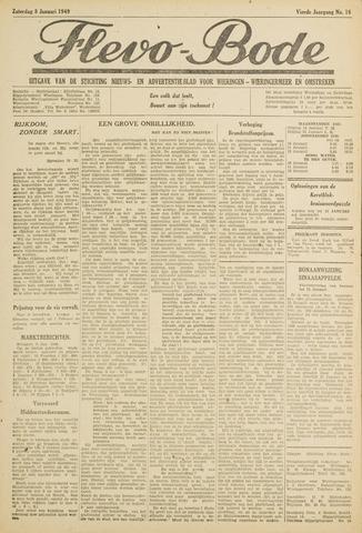 Flevo-bode: nieuwsblad voor Wieringen-Wieringermeer 1949-01-08