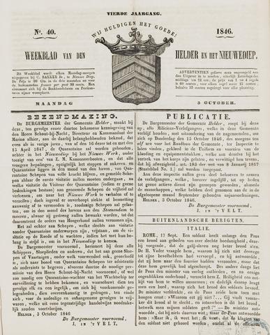 Weekblad van Den Helder en het Nieuwediep 1846-10-05