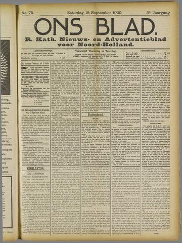 Ons Blad : katholiek nieuwsblad voor N-H 1909-09-18