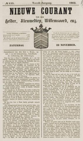 Nieuwe Courant van Den Helder 1862-11-22