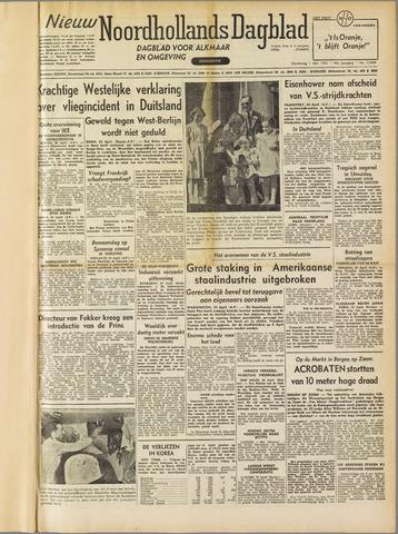 Nieuw Noordhollandsch Dagblad : voor Alkmaar en omgeving 1952-05-01