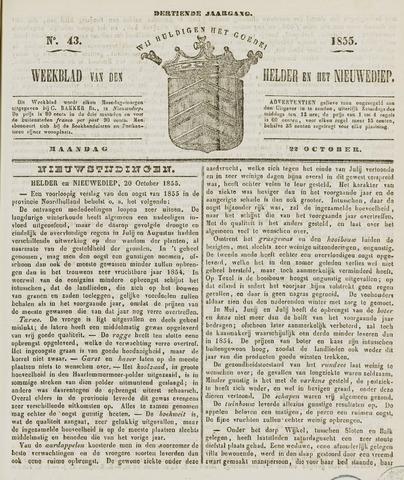 Weekblad van Den Helder en het Nieuwediep 1855-10-22