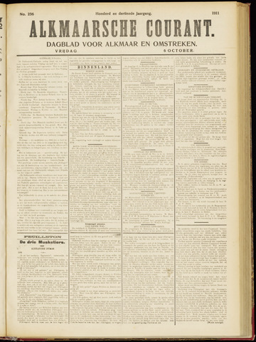 Alkmaarsche Courant 1911-10-06
