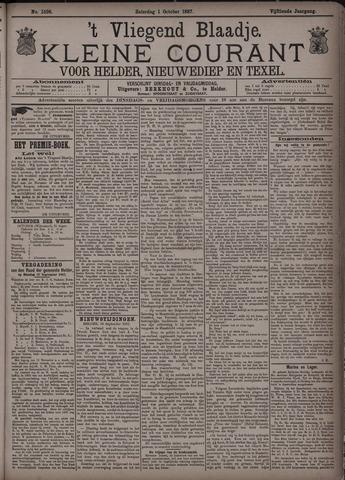 Vliegend blaadje : nieuws- en advertentiebode voor Den Helder 1887-10-01