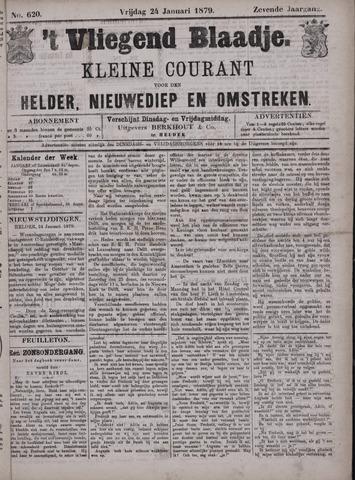 Vliegend blaadje : nieuws- en advertentiebode voor Den Helder 1879-01-24
