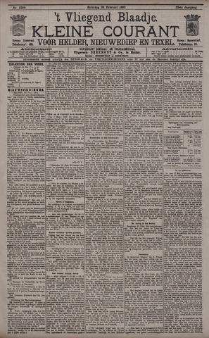 Vliegend blaadje : nieuws- en advertentiebode voor Den Helder 1895-02-23