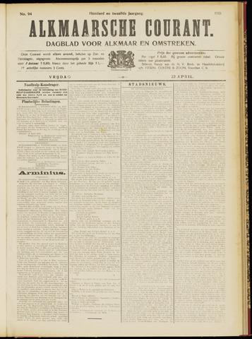 Alkmaarsche Courant 1910-04-22