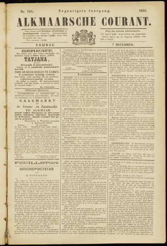 Alkmaarsche Courant 1888-12-07