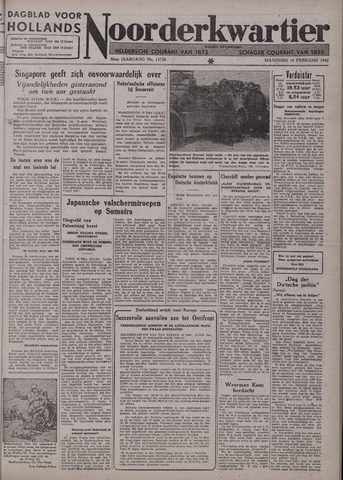Dagblad voor Hollands Noorderkwartier 1942-02-16