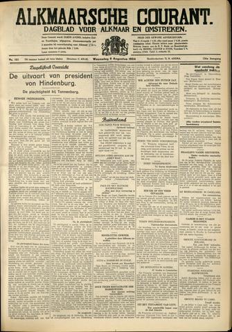 Alkmaarsche Courant 1934-08-08