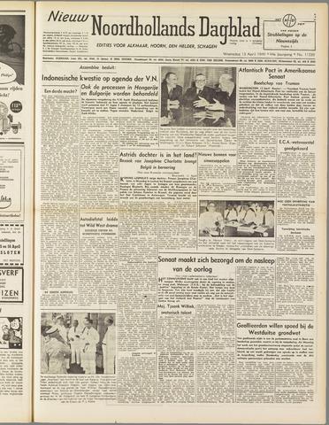 Nieuw Noordhollandsch Dagblad : voor Alkmaar en omgeving 1949-04-13