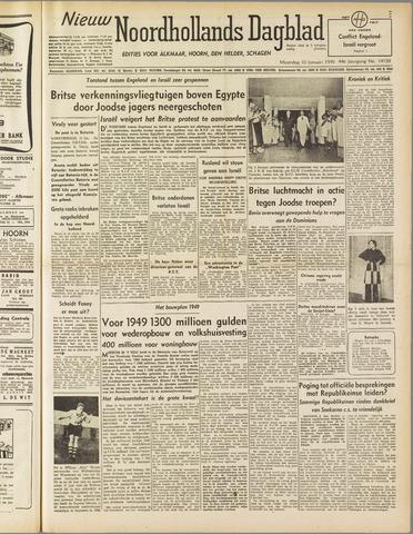 Nieuw Noordhollandsch Dagblad : voor Alkmaar en omgeving 1949-01-10