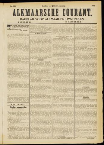 Alkmaarsche Courant 1913-09-25