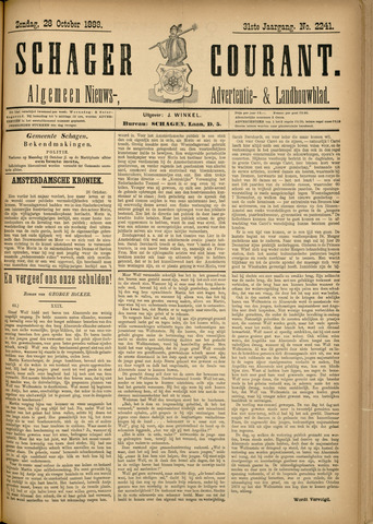 Schager Courant 1888-10-28