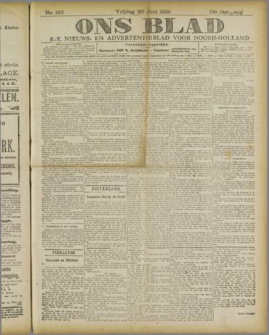 Ons Blad : katholiek nieuwsblad voor N-H 1919-06-20